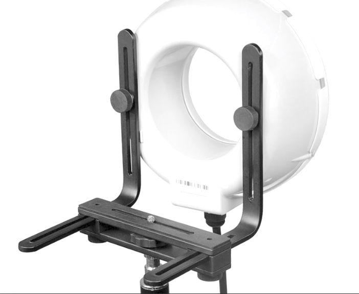 Conventional off-the-shelf ring flash bracket