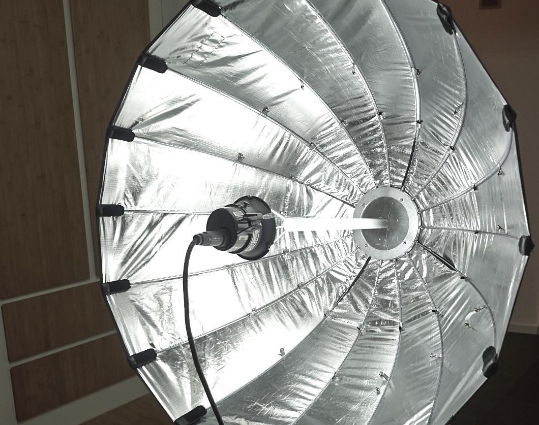 DIY deep focusable parabolic reflector